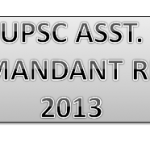 upsc assistant commandant result 2013