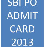 sbi po admit card 2013