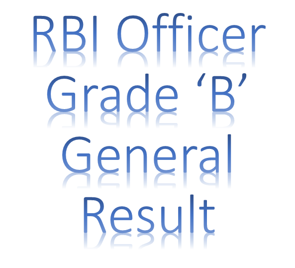 RBI Officer Grade B (General)- Written Exam Result 2013 (Online)