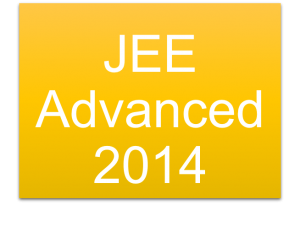 JEE Advanced Admit Card 2014